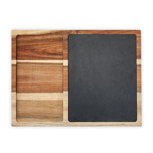 True Fabrications Rustic Farmhouse™ Slate and Wood Appetizer Board