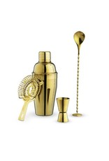 True Fabrications Gold Barware Set by True