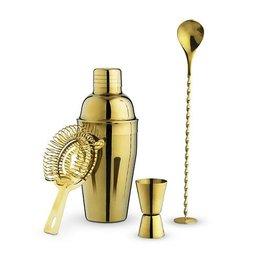 True Fabrications Gold Barware Set by True