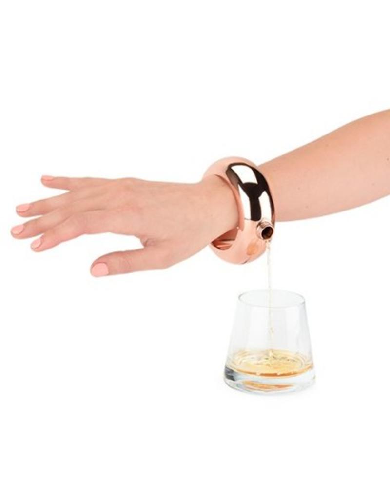 True Fabrications Gold Bracelet Flask by Blush
