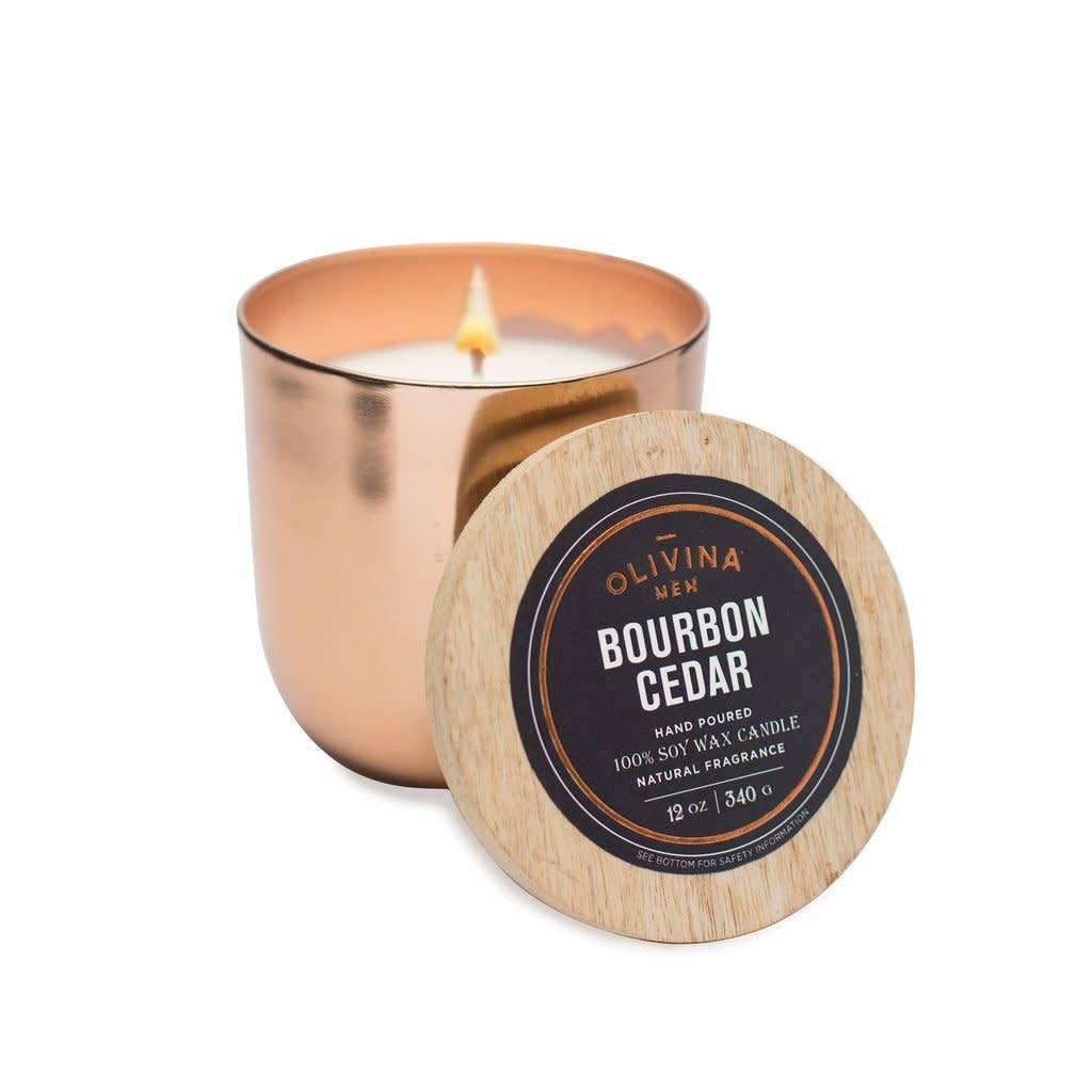 Olivina Men Bourbon Candle 12oz