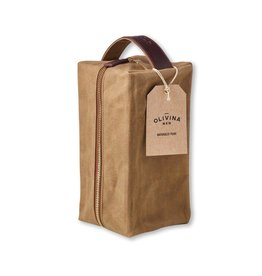Waxed Canvas Travel Bag - Khaki