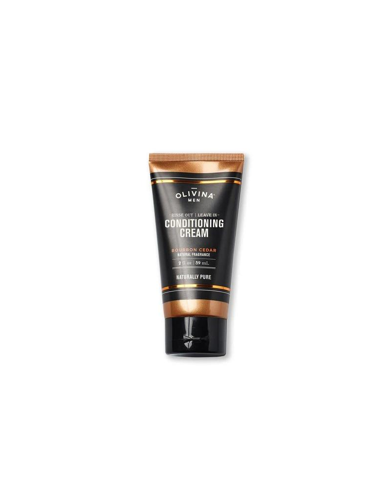 Olivina Men Conditioning Cream Bourbon Cedar 2oz