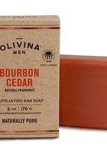 Olivina Men Bourbon Cedar Soap Bar