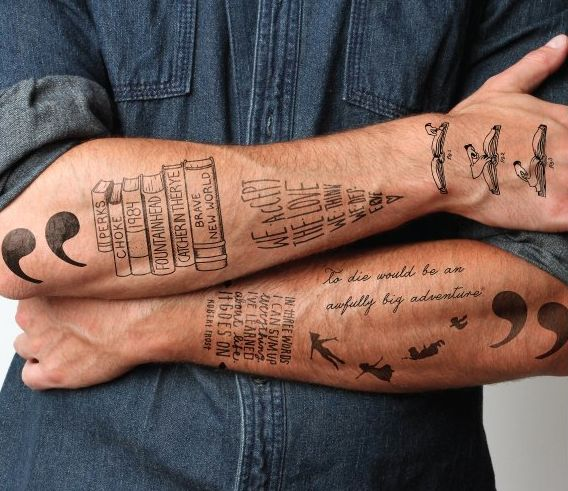 I Cannot Live Without Books Literary Tattoos