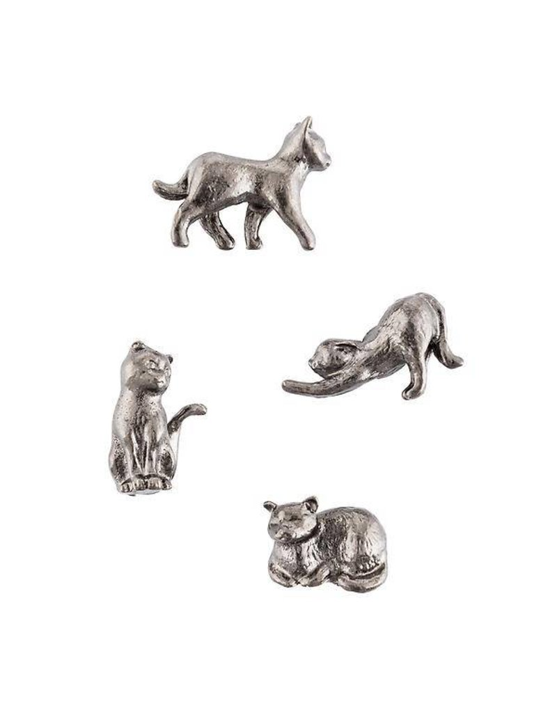 THREE BY THREE Solid Cast Cat Magnets