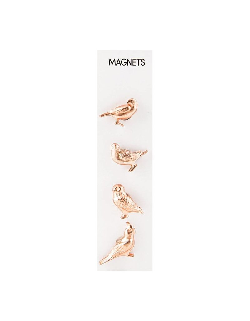 THREE BY THREE Solid Casts Birds Magnets