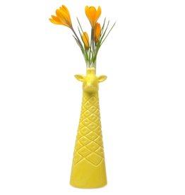 Giraffe Vase Yellow
