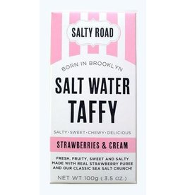 Salty Road Strawberries & Cream  Taffy