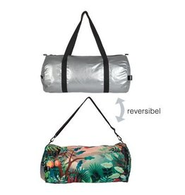 Reversible Weekender Bag Silver/Print