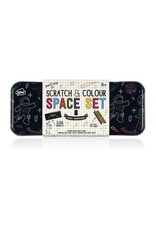 Scratch & Color Space Stickers