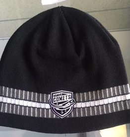 Old Time Hockey OTH Black Knit Beanie with White Stripe