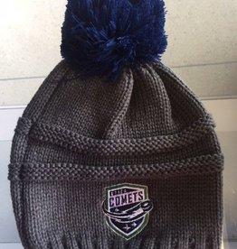 Old Time Hockey OTH Women's Knit Beanie with Blue Pom