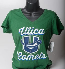 47 Brand Women's Green V Neck Alternative Logo Tee - 47 Brand