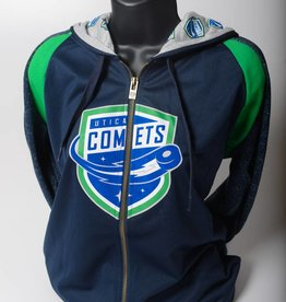 Old Time Hockey Women's Full Zip Blue Logo Hoodie