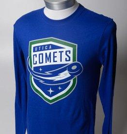 47 Brand Men's Blue L/S Comets Shield Logo - 47 Brand