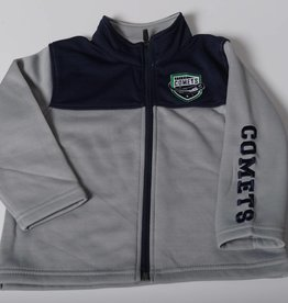 Colosseum Toddler Full Zip Jacket, Blue and Grey, Comets Sleeve Hit