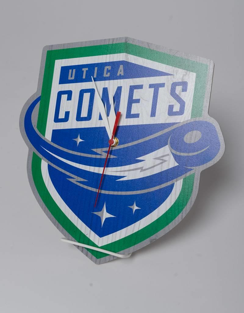 Comets Logo Custom Shaped Clock