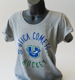 47 Brand Women's Grey Scoop Neck Tee - Utica Comets Hockey