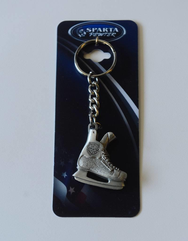 Sparta Pewter Metal Hockey Skate Keychain