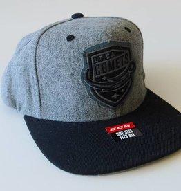 CCM CCM Grey Snapback Hat - Black Brim