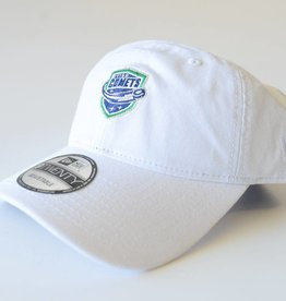 New Era White Hat with Comets Micrologo