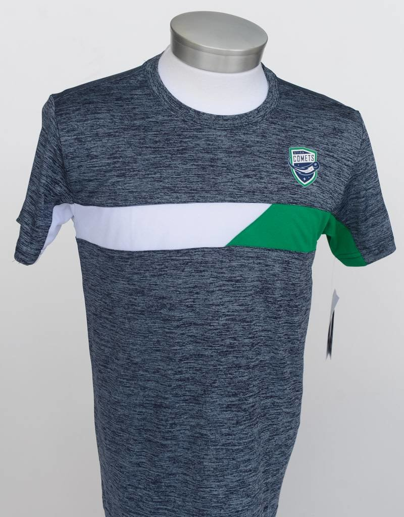 Colosseum Youth Green and White Striped Tee