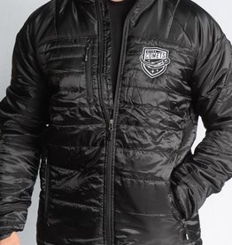J America Lightweight Puffer Jacket Black w/ Comets Shield Logo