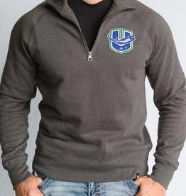 47 Brand Headline 1/4 Zip Sweatshirt Grey w/ U Logo
