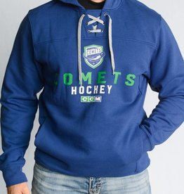 CCM Blue Hockey Lace Hoodie w/ Comets Shield