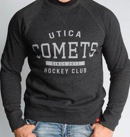 Sportiqe Derek Black Crew Neck Sweatshirt w/ Comets Wordmark Logo