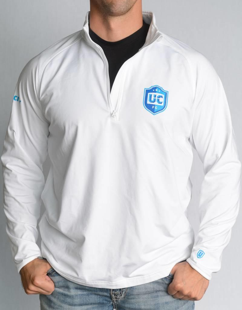 Sport-Tek UCFC Men's White Sport-Tek 1/4 Zip Pullover