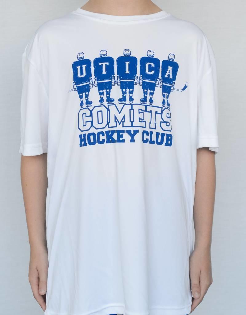 White Youth Sport-Tek Comets T-Shirt