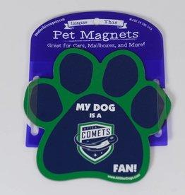 Comets Dog Magnet