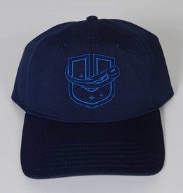 Sportiqe Navy Blue Fitted Hat w/ Neon Blue U Logo