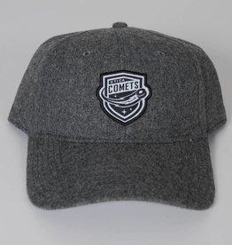 Sportiqe Adjustable Grey Flannel Hat w/ Comets Shield