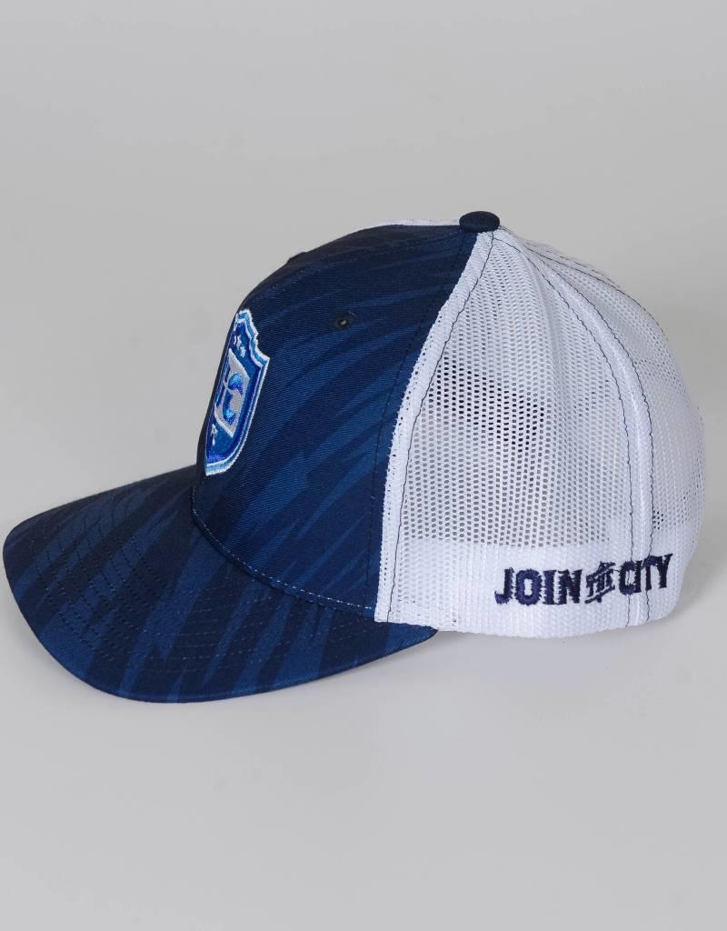 UCFC Adjustable Mesh Back Navy/White Trucker Hat