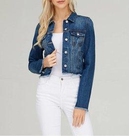 Tres Bien Cropped Cut-Off Denim Jacket
