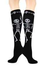 Foot Traffic Skeleton Knee High Socks