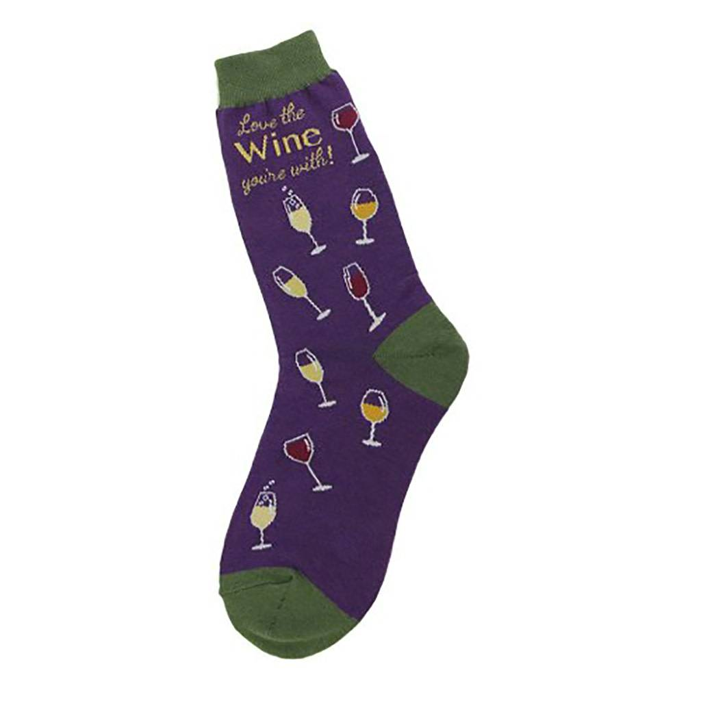 Foot Traffic Love The Wine Women's Socks
