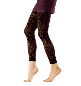 Foot Traffic Floral Print Microfiber Footless Tights