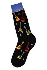 Foot Traffic All Over Guitars Men's Socks