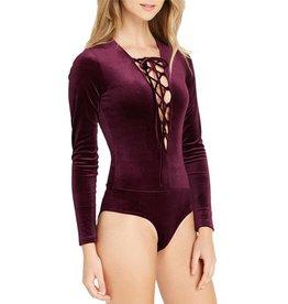 MaiTai Velvet Lace-Up Bodysuit