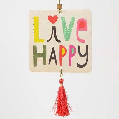 "Natural Life Air Freshener ""Live Happy"""