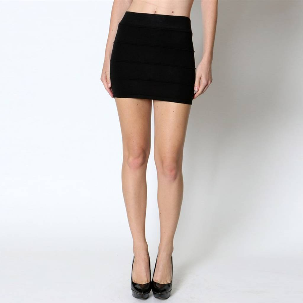 Zenana Basic Sweater Mini Skirt