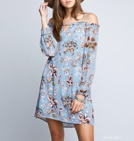 Hayden Floral Print Off The Shoulder Dress with Straps