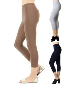 Zenana Cotton Capri Leggings