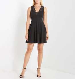 MaiTai Sleeveless Skater Dress with Lace Details