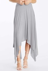 MaiTai Solid Uneven Hem Skirt