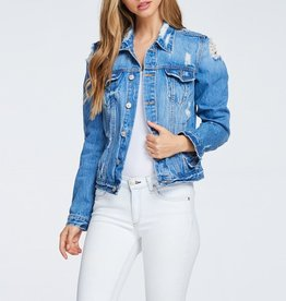 Tres Bien Distressed Denim Jacket